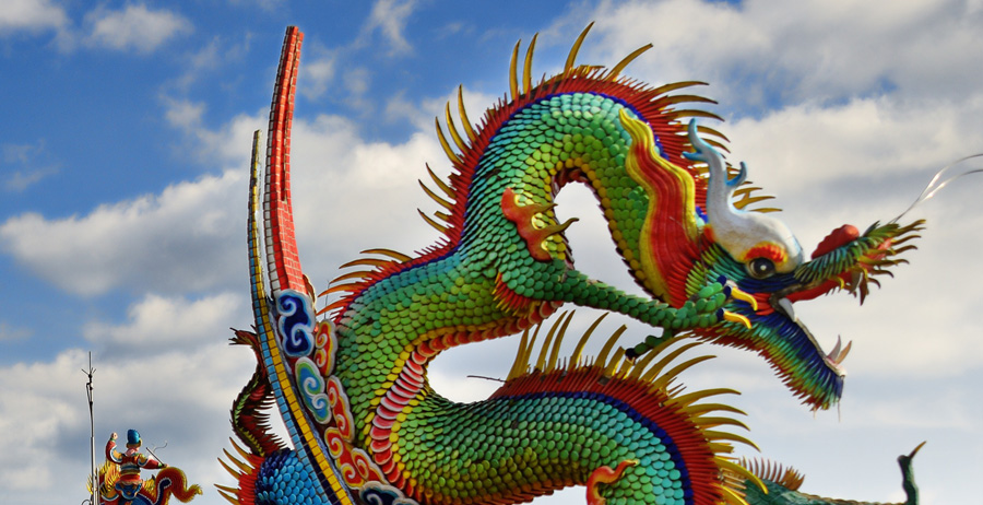 Taiwanese temple dragon