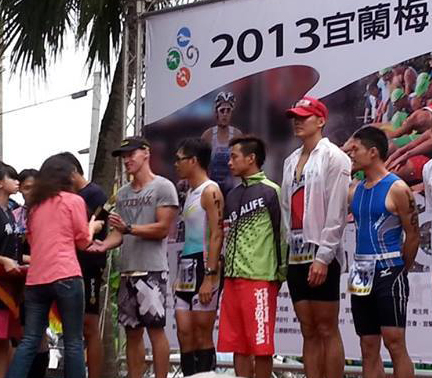 Vladimir Skultety competes in Taiwan Triathlon