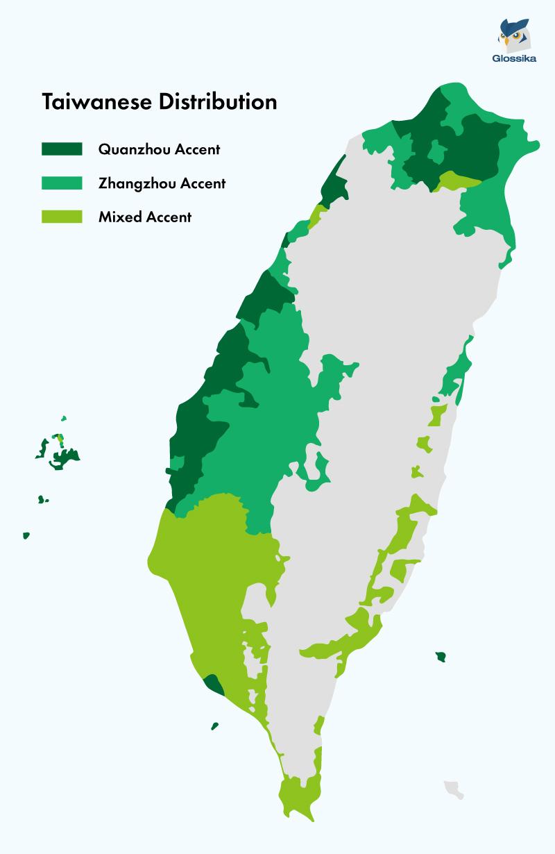 Taiwanese Hokkien Map