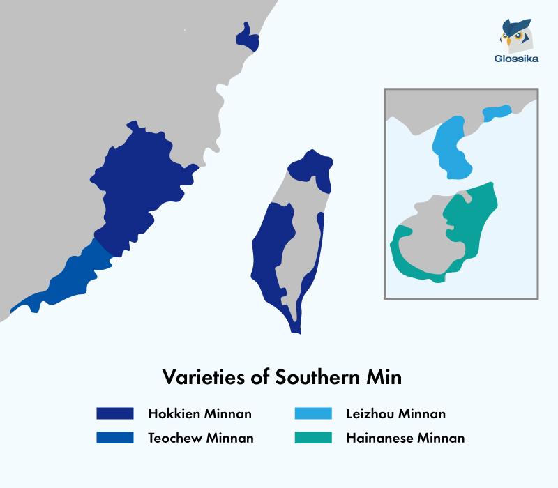 Chinese Southern Min Map