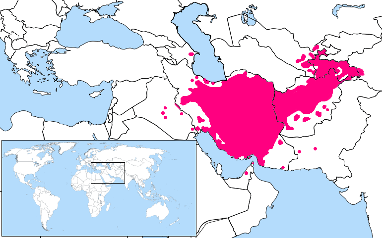 persian language location map