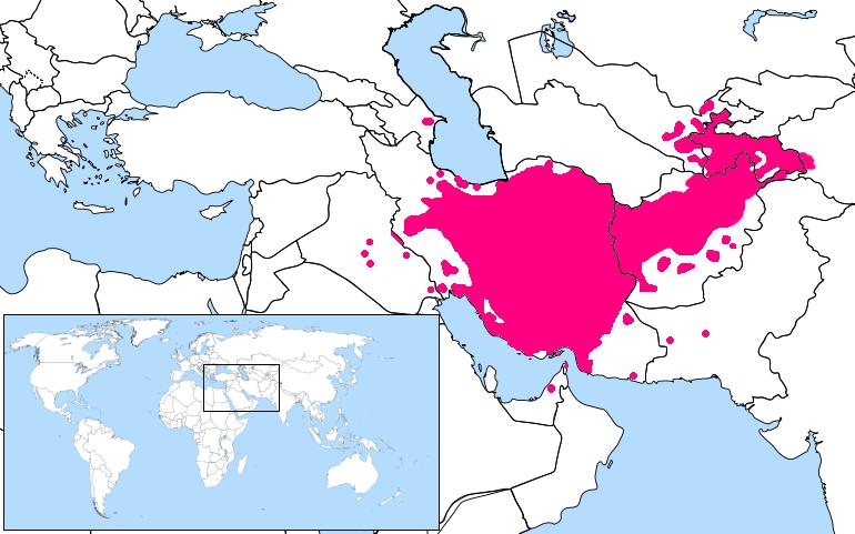persian language location map
