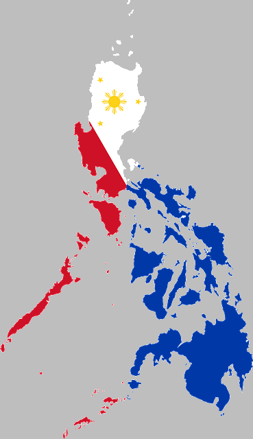 the philippines filipino country map flag